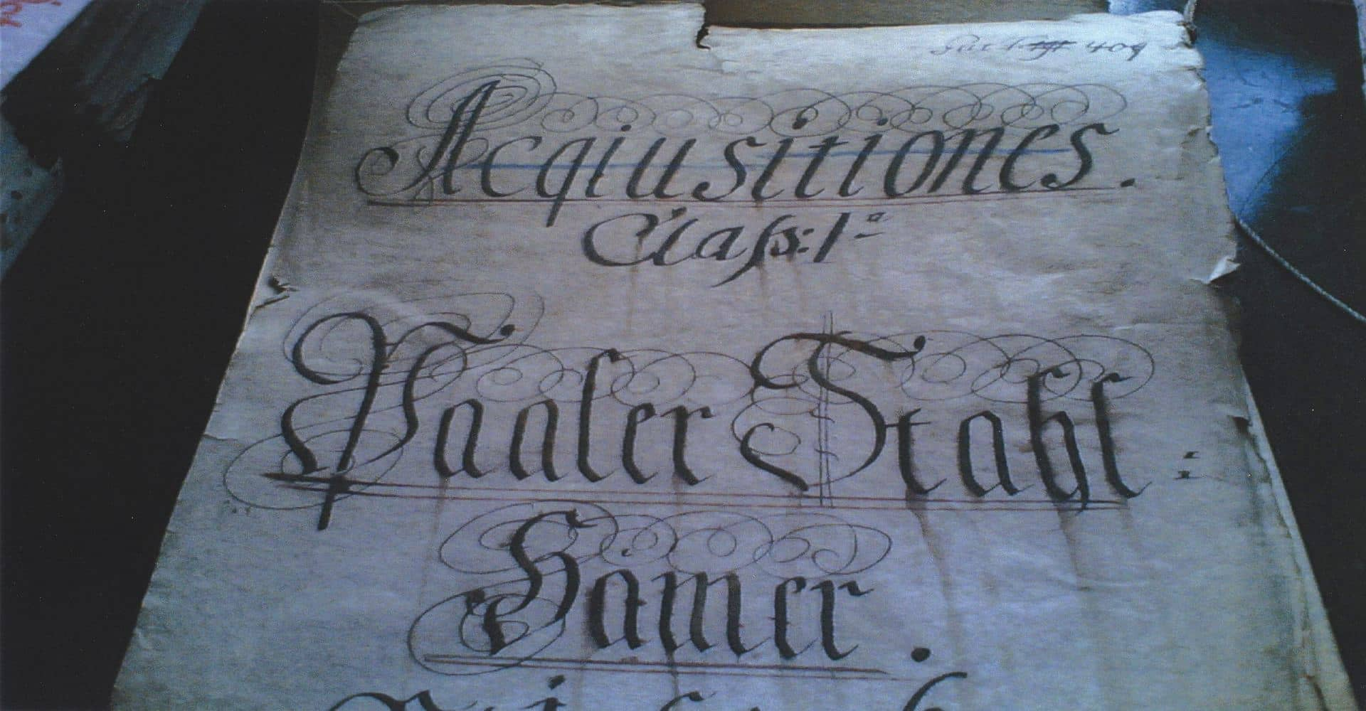 Urkunde aus 1785